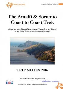 The Amalfi & Sorrento Coast to Coast Trek