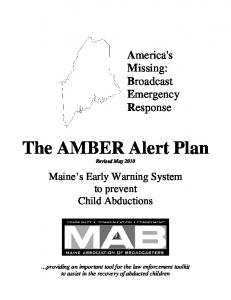 The AMBER Alert Plan