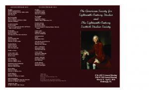 The American Society for Eighteenth-Century Studies and The Eighteenth-Century Scottish Studies Society