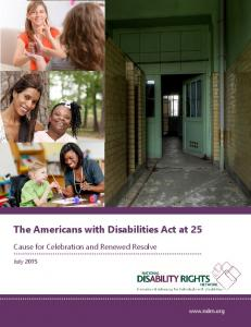 The Americans with Disabilities Act at 25