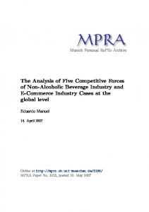 The Analysis of Five Competitive Forces of Non-Alcoholic Beverage Industry and E-Commerce Industry Cases at the global level
