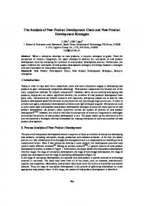 The Analysis of New Product Development Chain and New Product Development Strategies