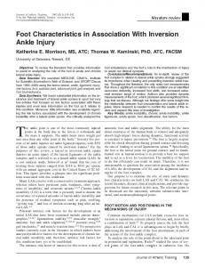 The ankle joint is one of the most commonly injured