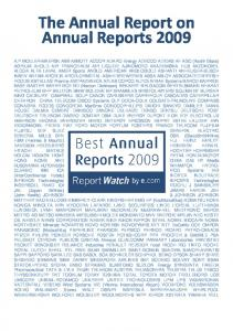The Annual Report on Annual Reports 2009
