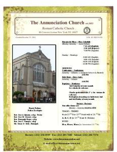 The Annunciation Church est.1853