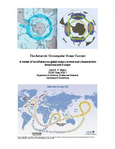 The Antarctic Circumpolar Ocean Current A review of its influence on global ocean currents and climate within Antarctica and Europe