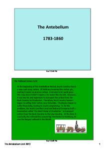 The Antebellum. Nov 7 2:44 PM