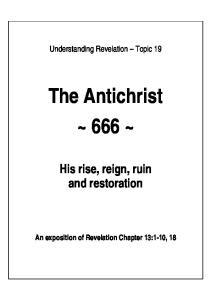 The Antichrist ~ 666 ~