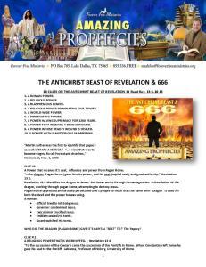THE ANTICHRIST BEAST OF REVELATION & 666