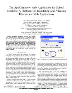 The AppComposer Web Application for School Teachers: A Platform for Translating and Adapting Educational Web Applications