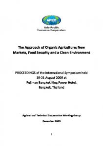 The Approach of Organic Agriculture: New Markets, Food Security and a Clean Environment