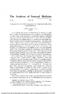 The Archives of Internal Medicine