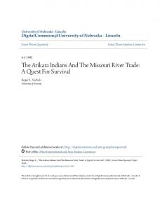 The Arikara Indians And The Missouri River Trade: A Quest For Survival