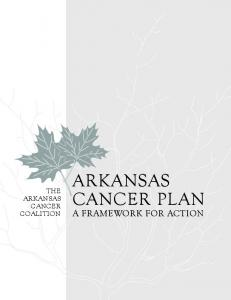 the arkansas cancer Coalition arkansas cancer plan a framework for action