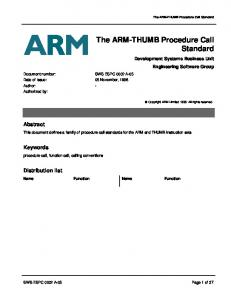The ARM-THUMB Procedure Call Standard