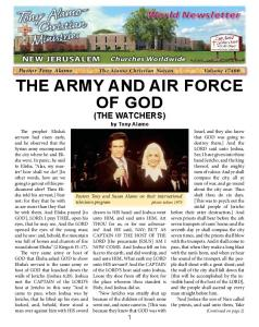 THE ARMY AND AIR FORCE OF GOD (THE WATCHERS)
