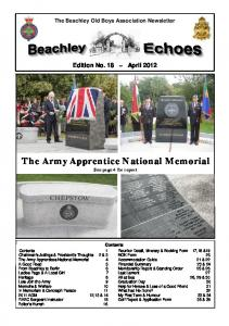 The Army Apprentice National Memorial