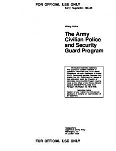The Army Civilian Police and Security Guard Program