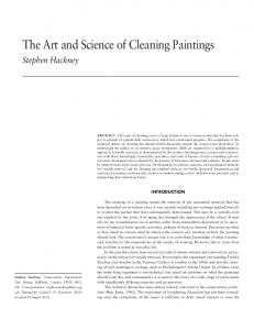 The Art and Science of Cleaning Paintings