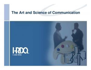 The Art and Science of Communication 2009 HRDQ