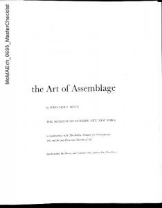 the Art of Assemblage
