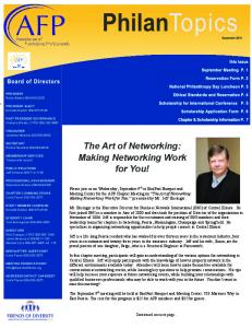 The Art of Networking: Making Networking Work for You!