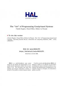 The Art of Programming Gossip-based Systems