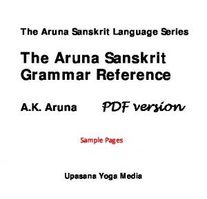 The Aruna Sanskrit Grammar Reference