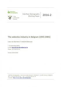 The asbestos industry in Belgium ( )