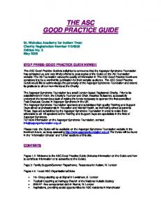 THE ASC GOOD PRACTICE GUIDE