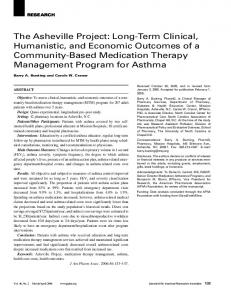 The Asheville Project: Long-Term Clinical, Humanistic, and Economic Outcomes of a Community-Based Medication Therapy Management Program for Asthma