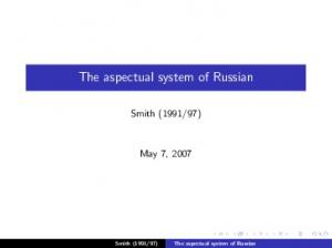 The aspectual system of Russian