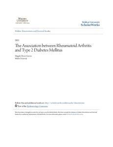 The Association between Rheumatoid Arthritis and Type 2 Diabetes Mellitus