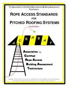 The Association for Certified Rope Access Building Assessment Technicians FOR. Fourth Edition