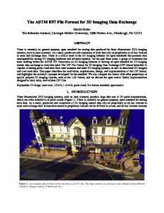 The ASTM E57 File Format for 3D Imaging Data Exchange