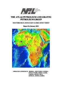 THE ATLAS PETROLEUM AND ORANTO PETROLEUM GROUP