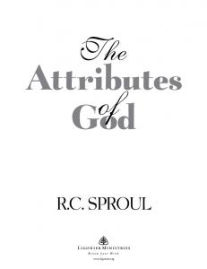 The. Attributes. God R.C. SPROUL