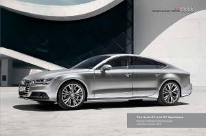The Audi A7 and S7 Sportback. Pricing and Specification Guide Valid from October 2015