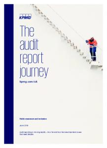 The audit report journey