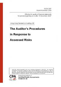 The Auditor s Procedures