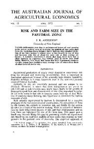 THE AUSTRALIAN JOURNAL OF AGRICULTURAL ECONOMICS