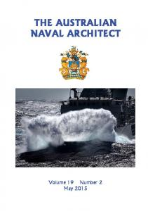 THE AUSTRALIAN NAVAL ARCHITECT
