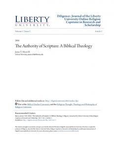 The Authority of Scripture: A Biblical Theology