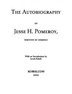 The Autobiography. Jesse H. Pomeroy,
