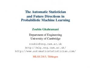 The Automatic Statistician and Future Directions in Probabilistic Machine Learning