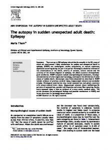 The autopsy in sudden unexpected adult death: Epilepsy