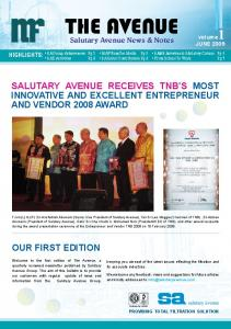 THE AVENUE. Salutary Avenue News & Notes. MAF NanoTec Media Pg 3 SAMS Activities & SA Safety Culture Pg 4
