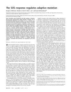 The bacterial SOS response, studied extensively in Escherichia