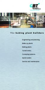 The baking plant builders
