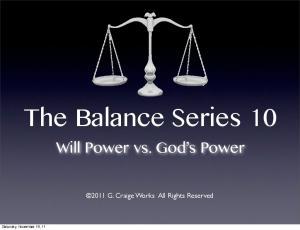 The Balance Series 10